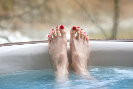 Enjoy a relaxing soak on a hot tub holiday