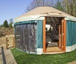 The Lakeside Yurt dog friendly holiday cottage, Beckford, Cotswolds , Gloucestershire, England