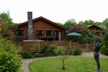 Milk Wood Bach Log cabin for 2 to 3 people, Gwynedd, Wales