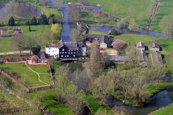 Mendham Mill - the house over a river, Norfolk, England