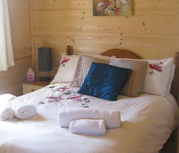 luxury log cabin with hot tub Wales