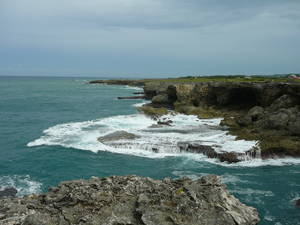 North Coast, rugged cliffs in Barbados