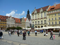 Beautiful main square in Wroclaw